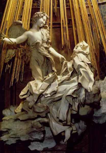 Ecstasy of St. Teresa, Gian Lorenzo Bernini, 1647 - 52, Santa Maria della Vittoria, Rome
